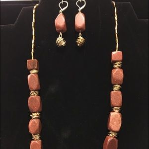 Sparkle Jewelry, brown/coppery with sparkles